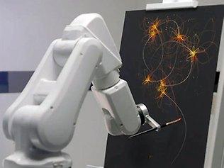 robot pelukis