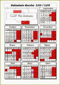 C A L E N D A R I O Escolar 14-15