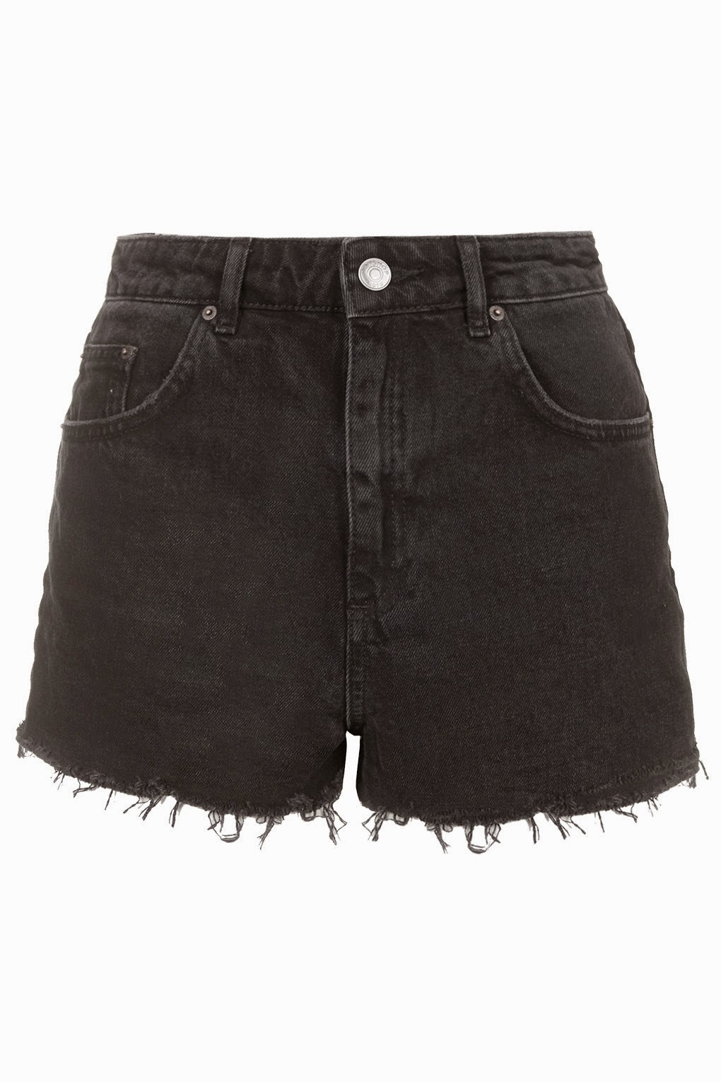 black denim shorts, topshop black shorts, moto black shorts,