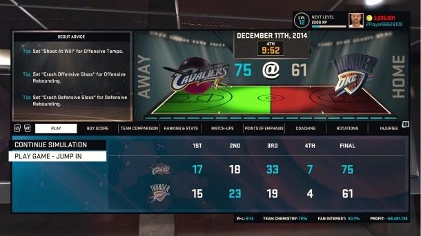 NBA 2K15 MyGM Mode