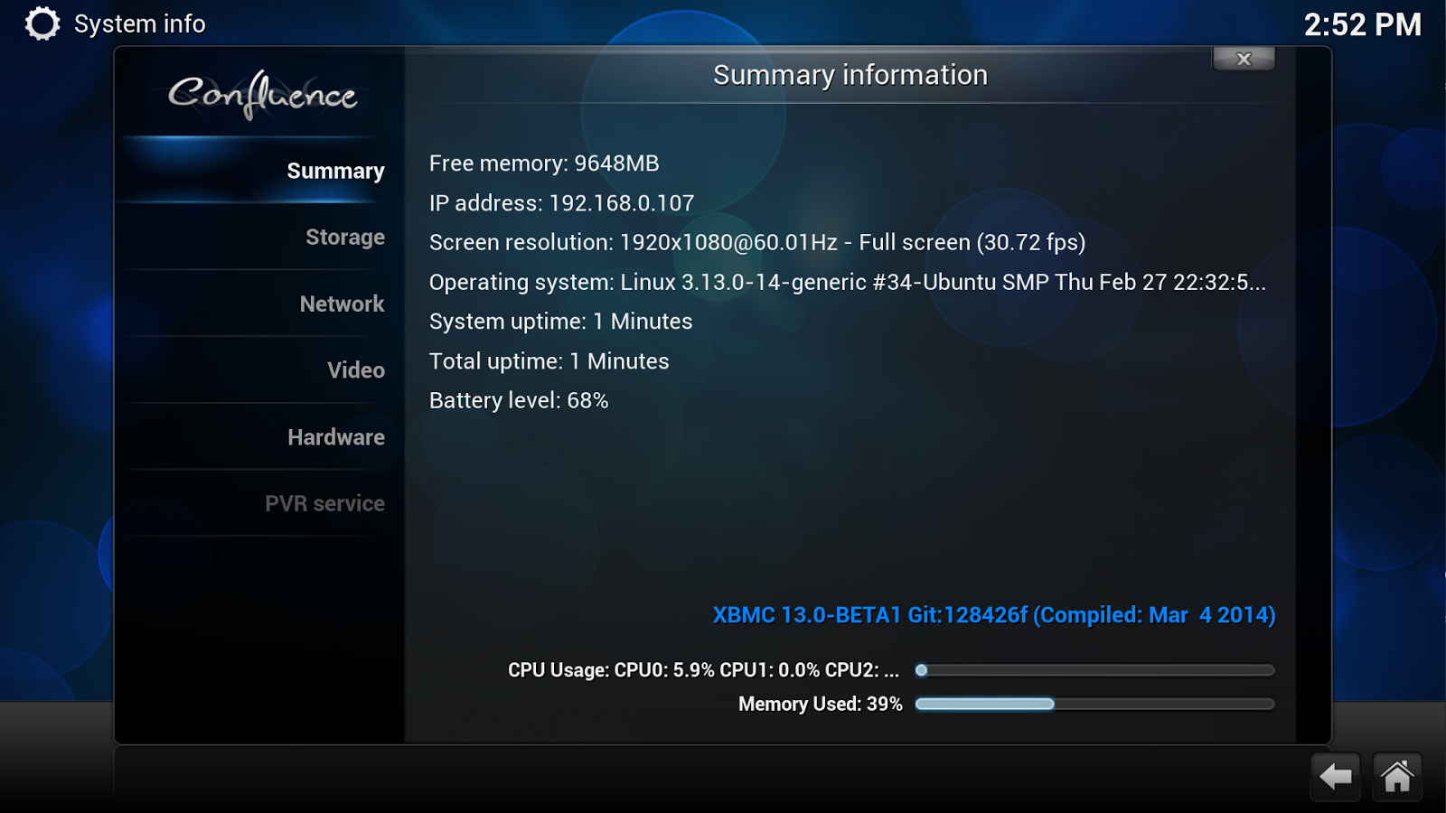XBMC 13.0 gotham screenshots
