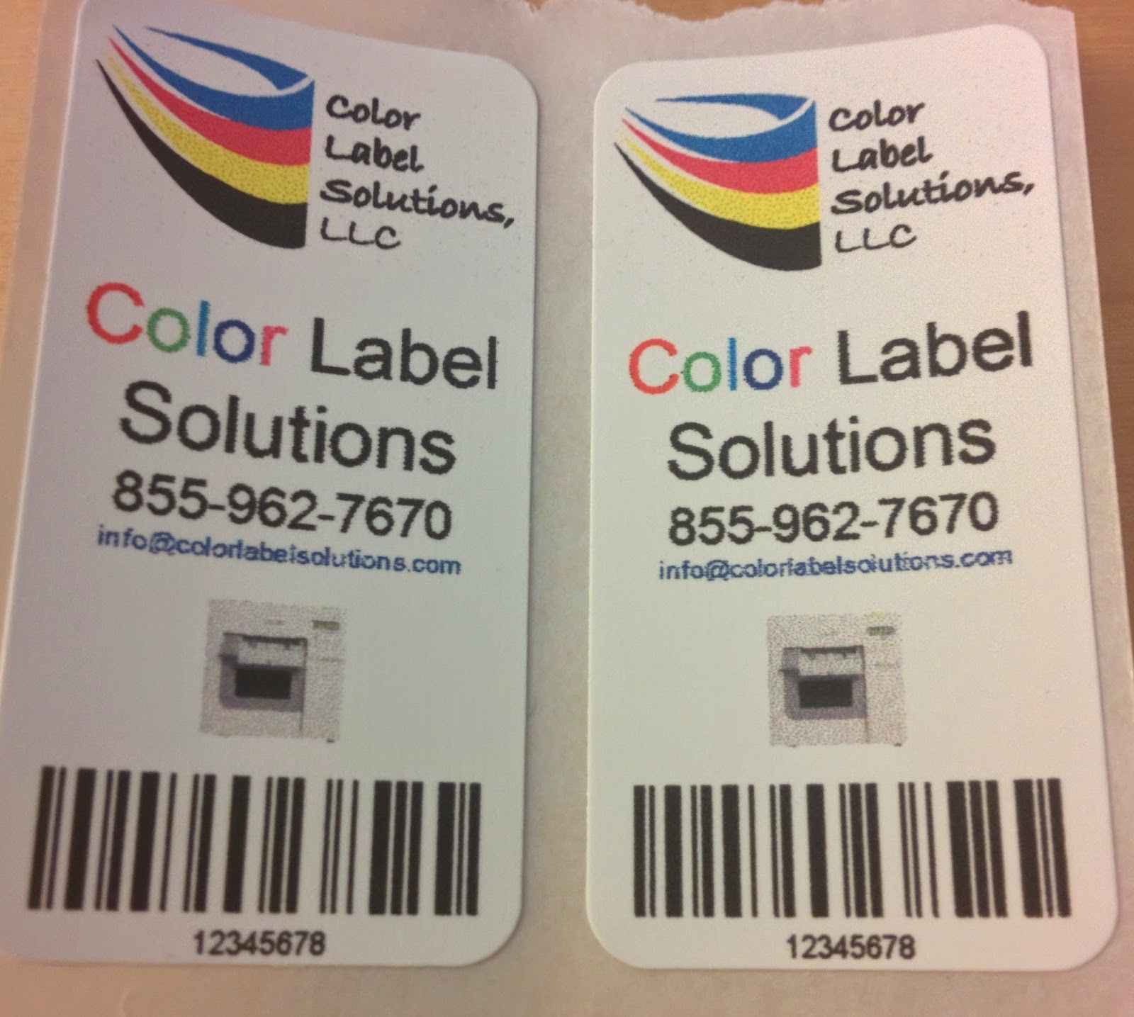 Narrow Color Labels