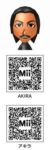AKIRA(EXILE)のMii QRコード トモコレ新生活