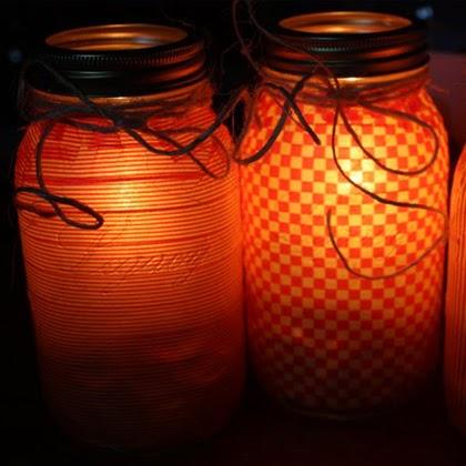 How To Make Glass jar luminaries