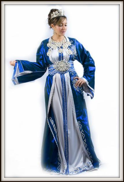 Takchita marocaine bleu roi