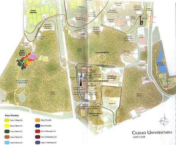 """""""Zona Cultural"""" UNAM Map"""