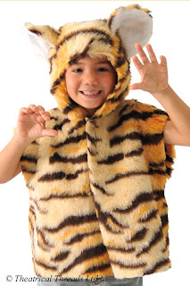 Tiger One Size Kids Costume for World Book Day from Theatrical Threads Ltd