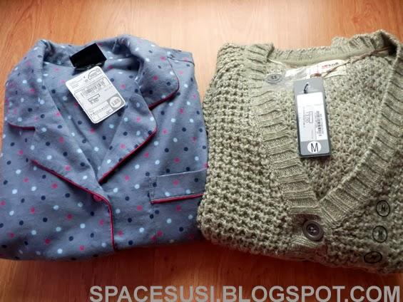 recenze, C&A, oblečení, teplé pyžamo, pletený svetr