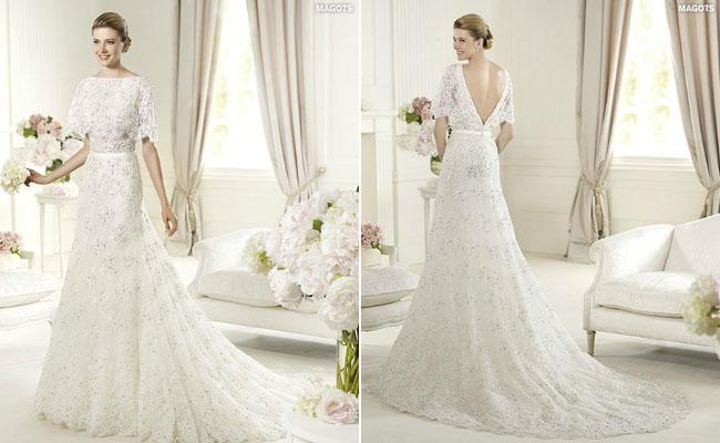 Gaun pengantin tidak harus berbentuk bustier dengan bawahan mengembang