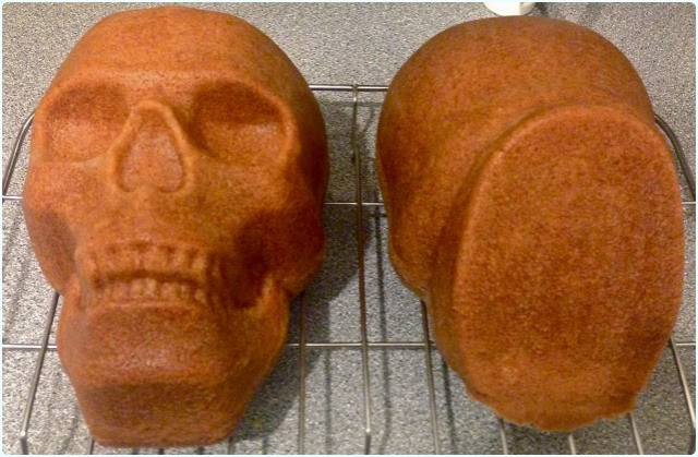 Halloween Skull Cake