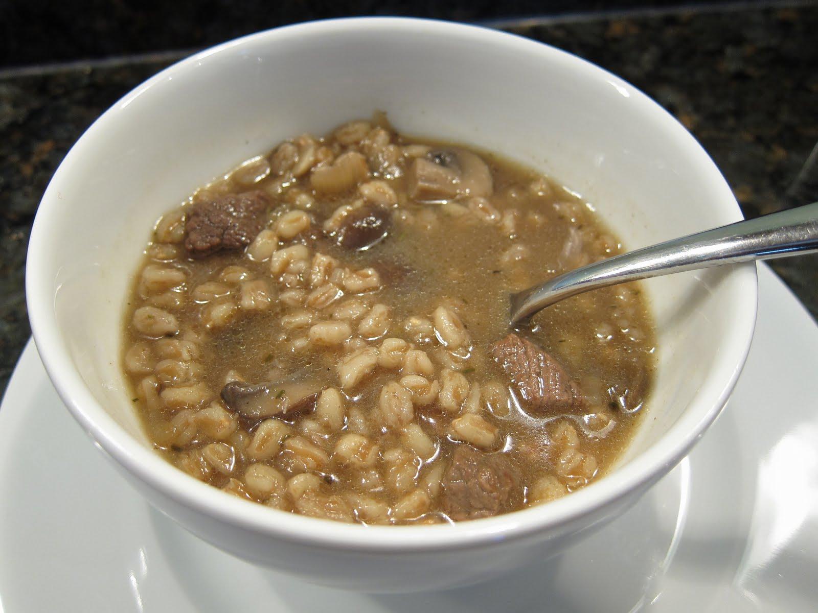 Good Appetite: Beef, Mushroom and Farro Soup