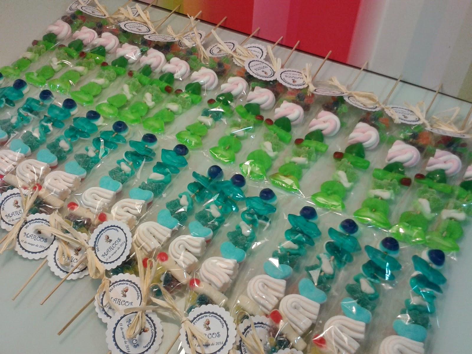 Brochetas de gominolas gallery of brochetas de chuches en for Pinchos de gominolas