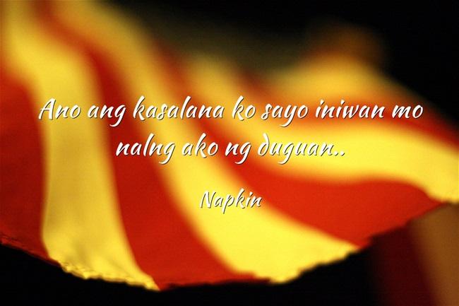 napkin tagalog riddle