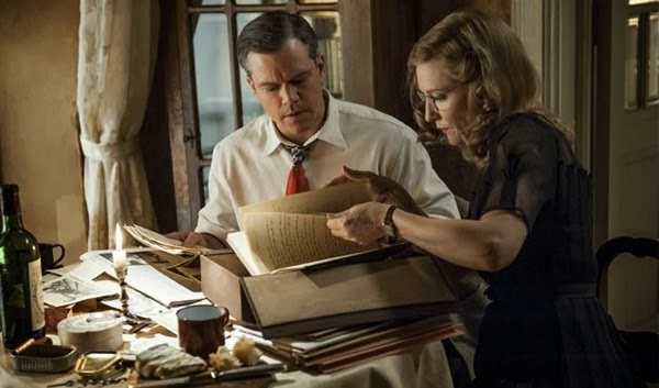 "Matt Damon y Cate Blanchett en ""Monuments Men"""