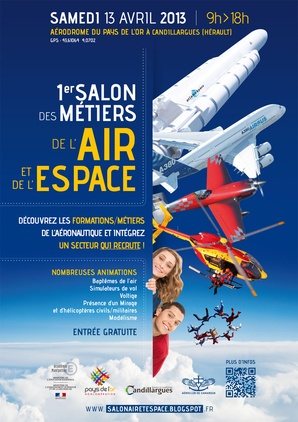1er Salon des Métiers de l'Air et de l'Espace à Montpellier! AFFICHE_SALON_2