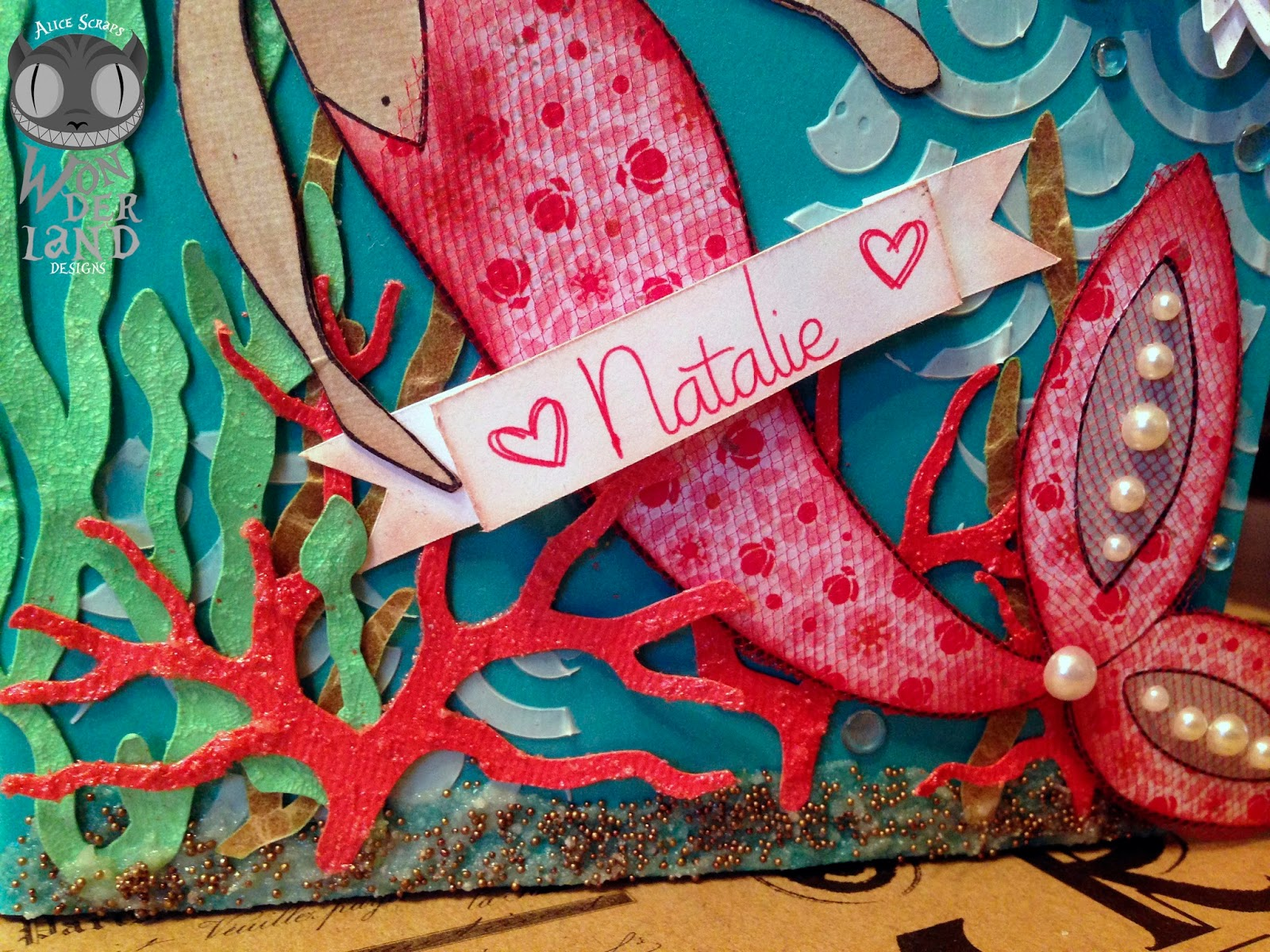Scrapbook paper case - Scrapbook Scrapbooking Mixed Media Paper Crafting Mermaid Ocean Sea
