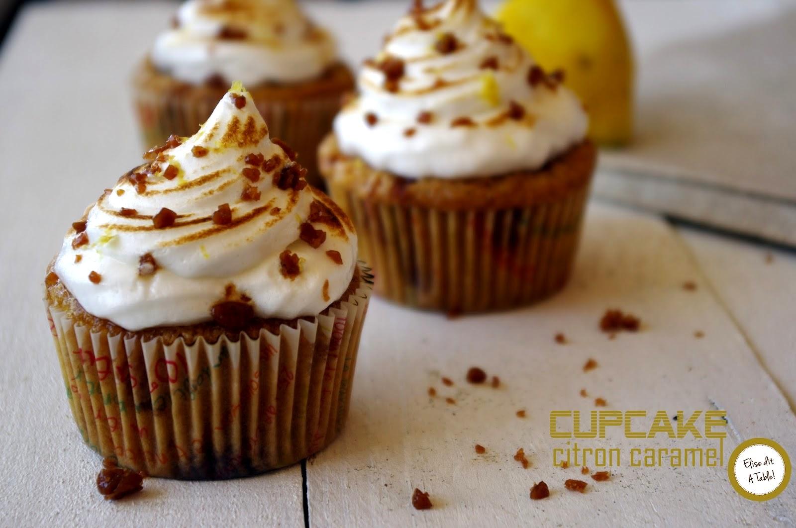 recette Cupcake citron caramel