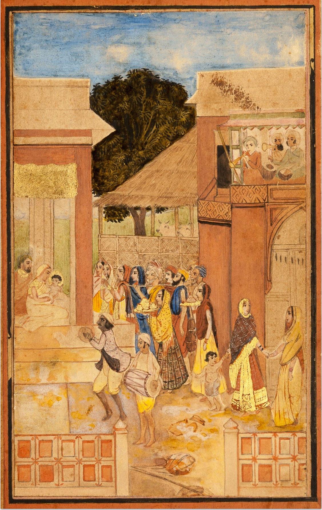 Birth of Krishna by Abanindranath Tagore 1895-1897