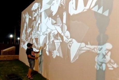Noticias se construye mural de guernica en el ingreso a for Mural guernica