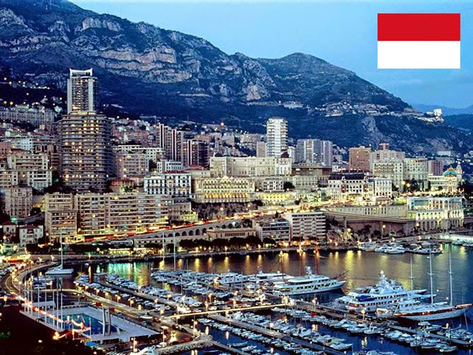 Monaco - smallest country ranked 2nd