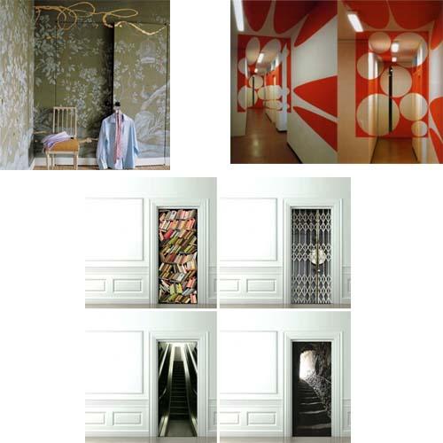 Mimetizza la porta arredamento facile - Posto con molti specchi ...