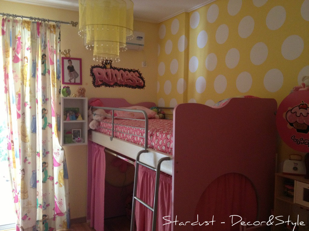 Girl 39 s bedroom reveal and how to paint polka dots on a for Polka dot bedroom ideas