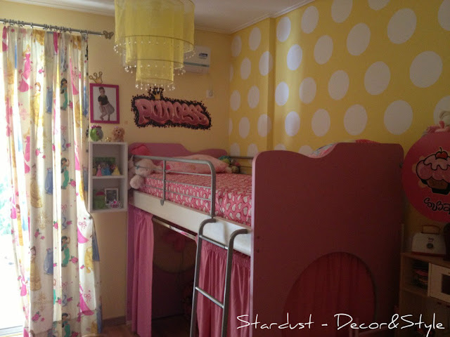 girl 39 s bedroom reveal and how to paint polka dots on a wall s t a