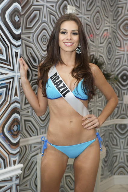 Miss Brazil Gabriela Markus poses for photos in swimwear in Las Vegas, Nevada December 11, 2012