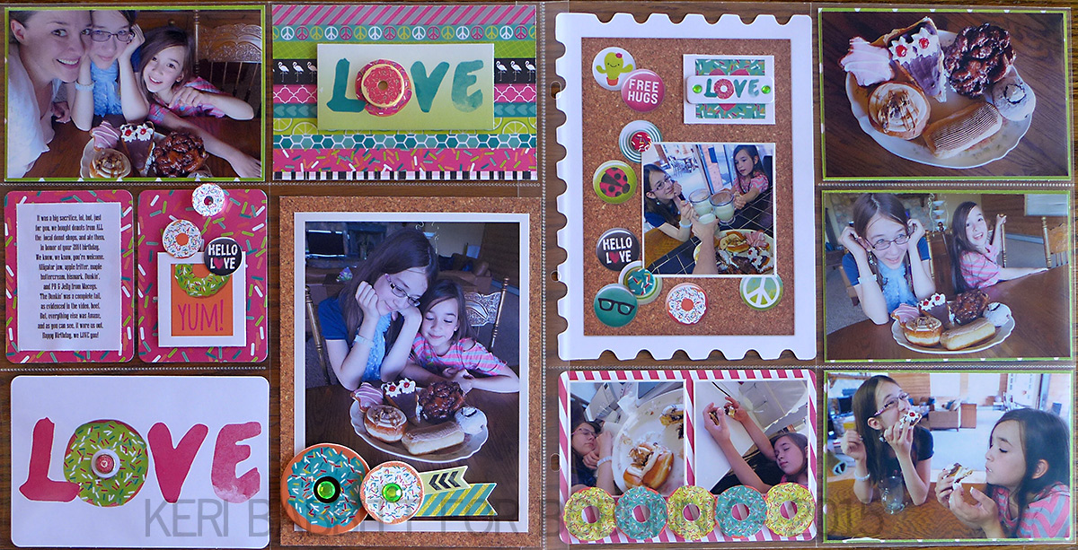 Donut Love Misc Me by Keri Babbitt using 3L Adhesives and the BoBunny #ForeverYoung Collection
