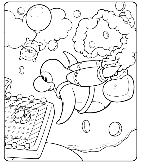 free coloring pages of blue penguin