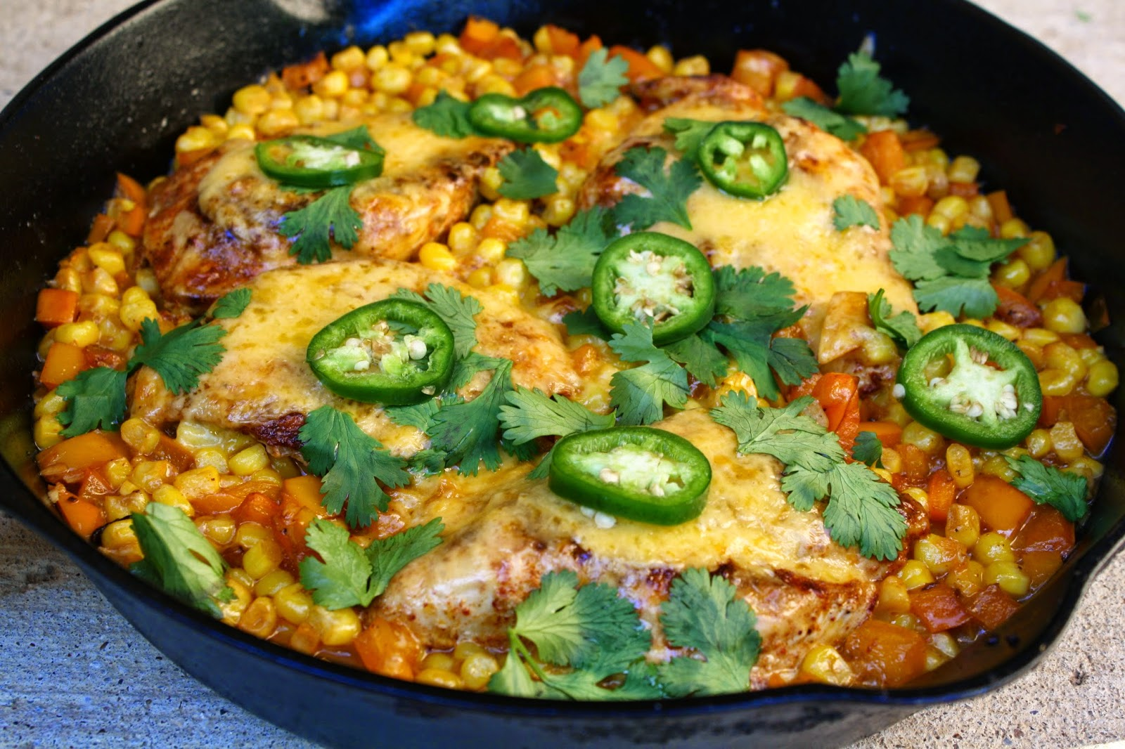 mexican venison skillet recipe dishmaps mexican chicken skillet ...
