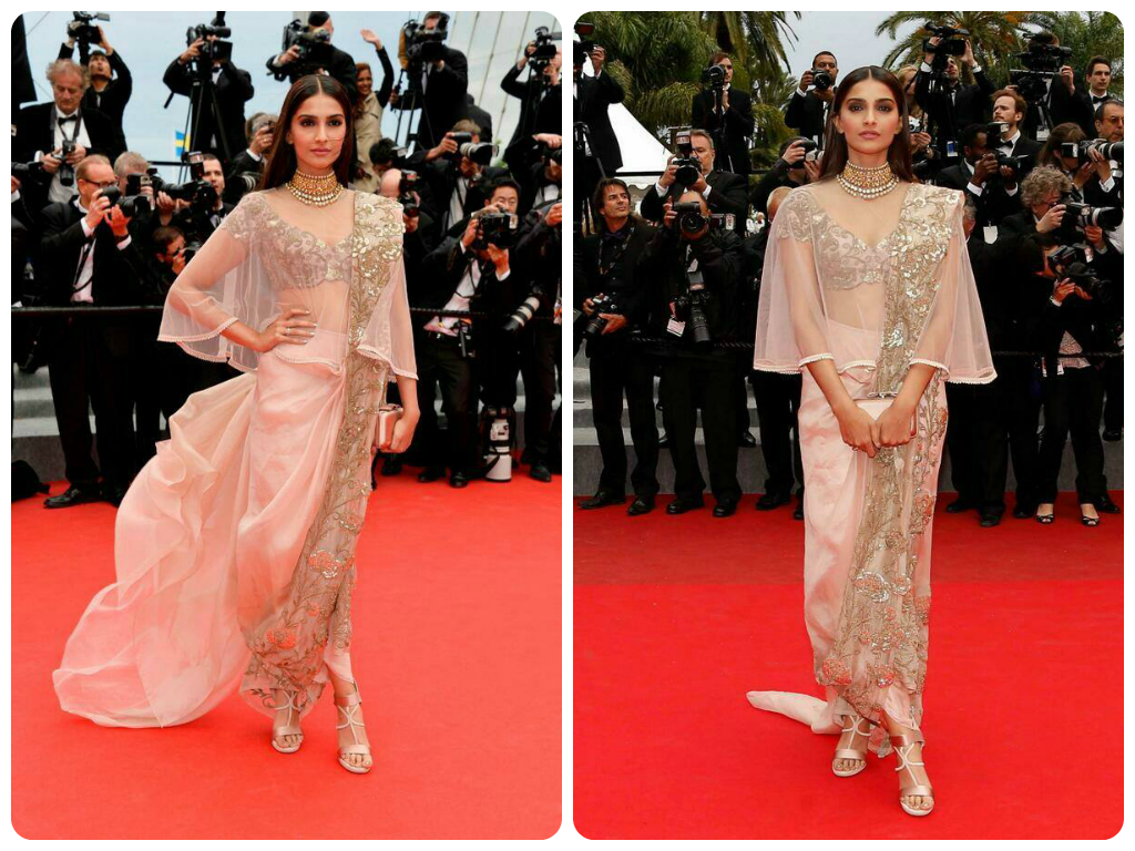 sonam kapoor cannes 2014 anamika khanna couture