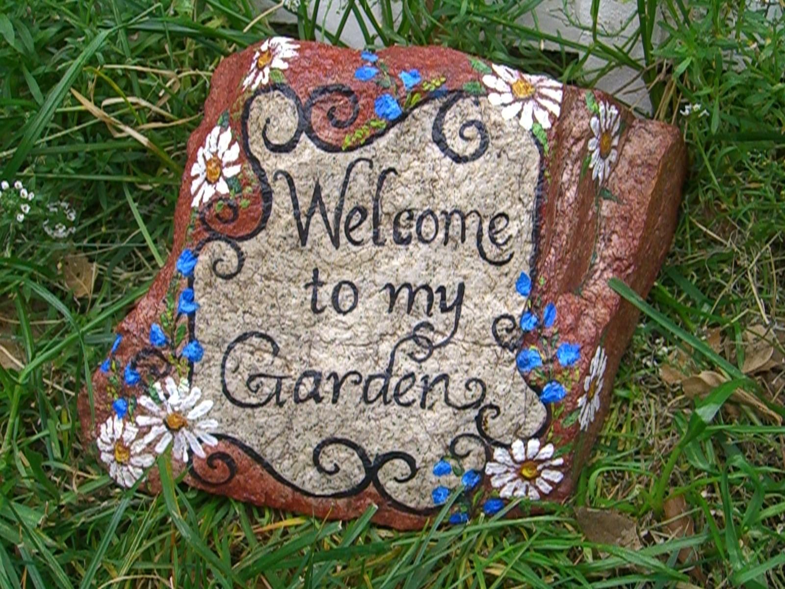 Inkspired musings - Painting rocks for garden ...