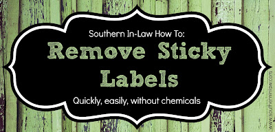 How to remove sticky labels without chemicals, easily