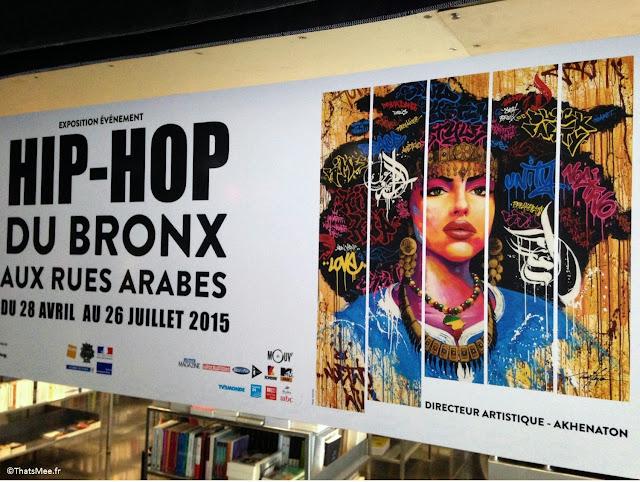 Expo hip-hop Institut Monde Arabe Akhenaton Paris affiche femme black graff