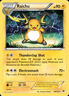 Raichu BREAKthrough Pokemon Card