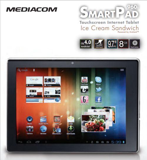 Tablet ICS 9,7 pollici mediacom smartpad 960i