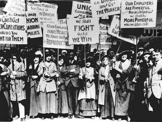 Movimento das mulheres operárias Março/1857