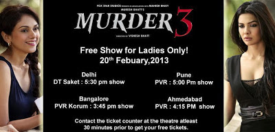 Murder 3 - Free Show For Ladies Only