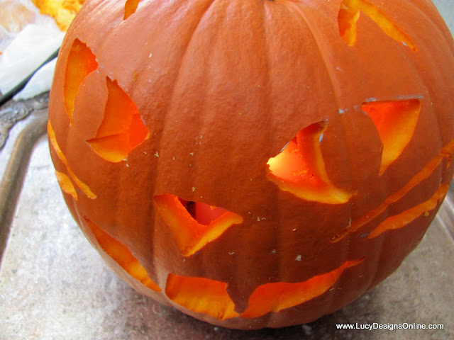 cat face pumpkin