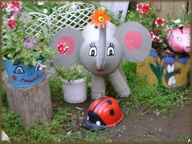 Поделки для украшений сада