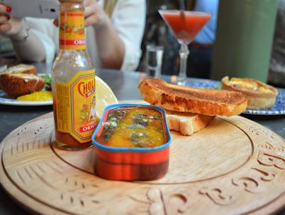 Sardines on toast - The Botanist Newcastle