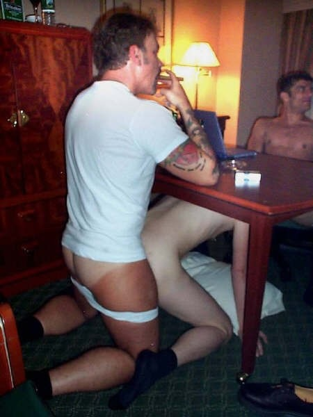 from Uriel suck under table gay