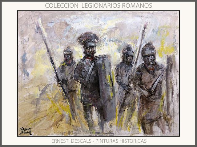 LEGIONARIOS-ROMANOS-PINTURA-ARTE-MILITAR-PINTURAS-HISTORICAS-COLECCION-ARTISTA-PINTOR-ERNEST DESCALS-