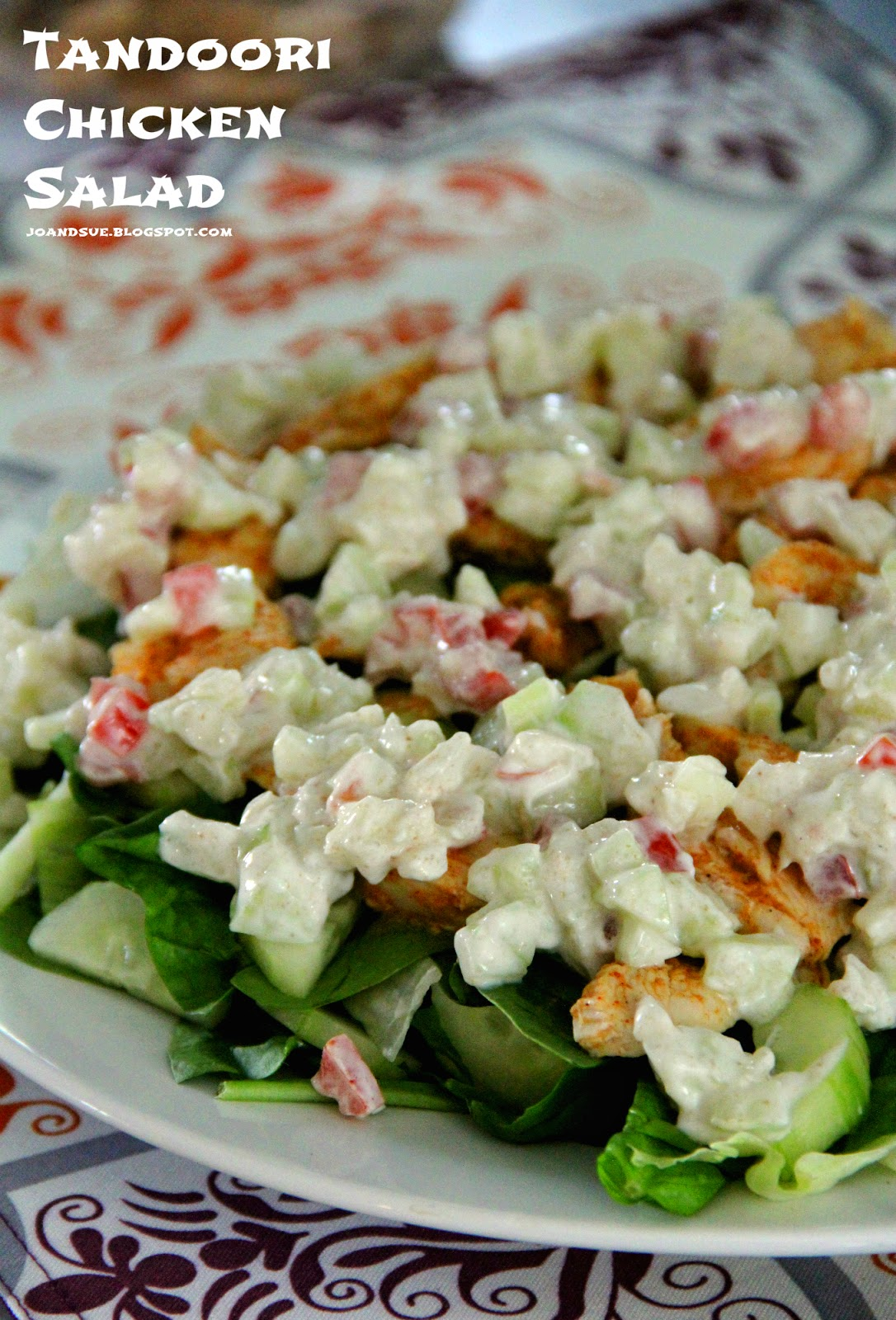Jo and Sue: Tandoori Chicken Salad With Tomato and Cucumber Raita