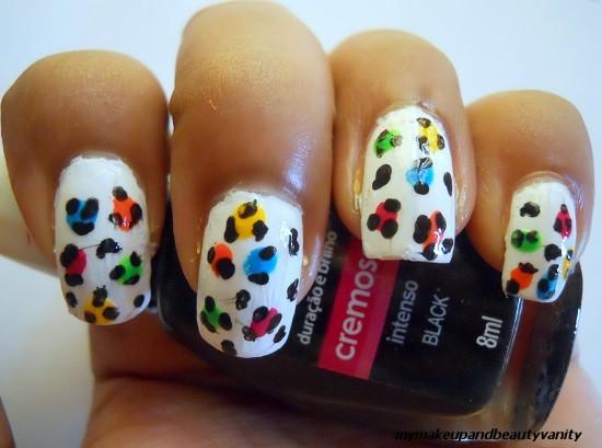 leopard nail art+tutorial