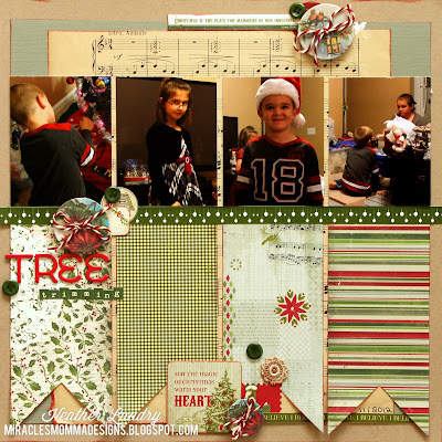 Christmas Tree Trimming_Kids_Scrapbook Layout