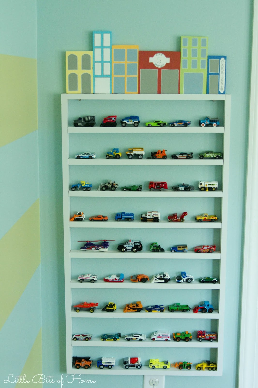 Wooden Toy Car Shelf : Hot wheels parking garage