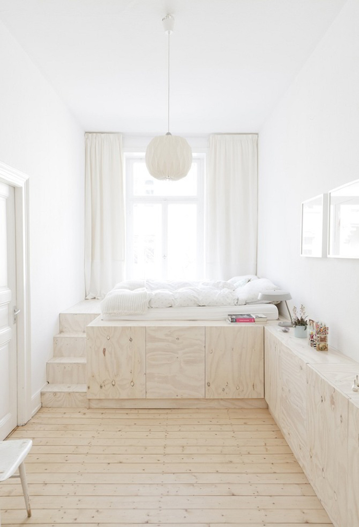 white bedroom  by studio oink