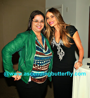 Lifestyle Editor Tracy Iglesias and Sofia Vergara at Hot Pursuit New York City Media Screening